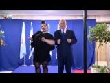 Премьер-министр Израиля станцевал танец курочек вместе с победительницей Евровидения