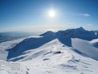 Арктическое полуночное солнце - круглосуточное время