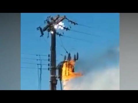 Электрическая дуга и пожар на трансформаторе
