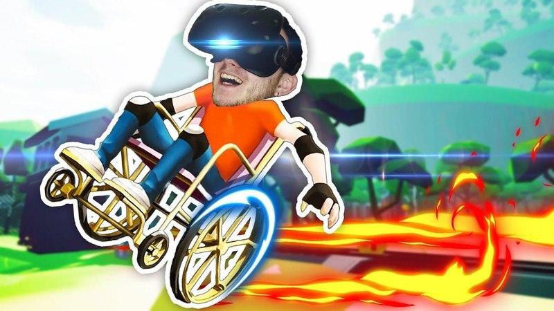 HAPPY WHEELS В ВИРТУАЛЬНОЙ РЕАЛЬНОСТИ! - Wheelchair Simulator VR ( HTC Vive )