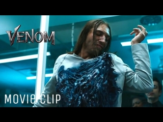 Venom - meeting the symbiote at first time (movie clip)