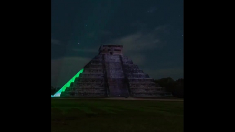 Красочное ночное шоу в Чичен-Ица (Юкатан, Мексика) - Полезное образование