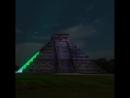 Красочное ночное шоу в Чичен Ица Юкатан Мексика Полезное образование