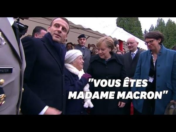 Je suis la chancelière allemande cette centenaire a confondu Merkel avec Mme Macron