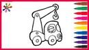 Рисуем кранРаскраски для детейУчим цвета и рисоватьмультфильм.Draw a cranecartoon