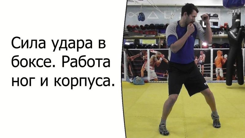 Сила удара в боксе. Работа ног и корпуса.
