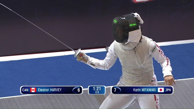 Shanghai GP 2018 Women's Foil Semi Final 2 Miyawaki JPN vs Harvey CAN