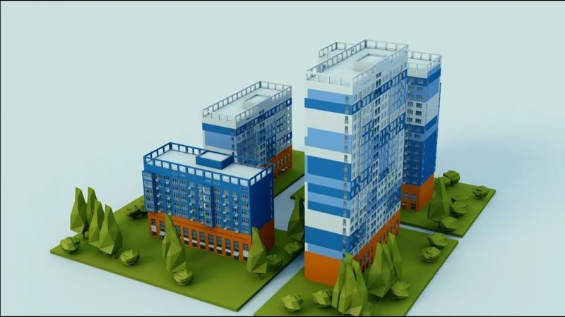 Архитектурная визуализация домостроительной компании. 3D визуализация процесса строительства.