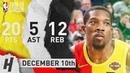Eric Bledsoe Full Highlights Bucks vs Cavaliers 2018.12.10 - 20 Pts, 5 Ast, 12 Rebounds!