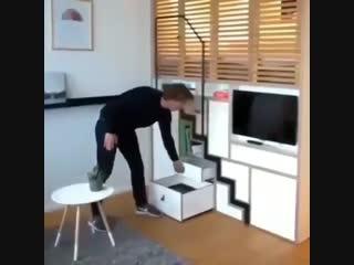 Когда в квартире совсем мало места - нестандартный подход - vk.com/tricks_lf