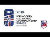 BUL vs NZL 2019 IIHF U20 DIVISION III