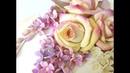Соленое тесто. Панно с сиренью и розами. МК 2 часть. Сборка композиции