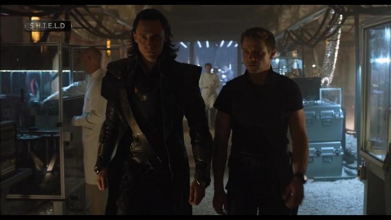 Мстители Удалённая Сцена Локи и Бартон Вырабатывают Стратегию