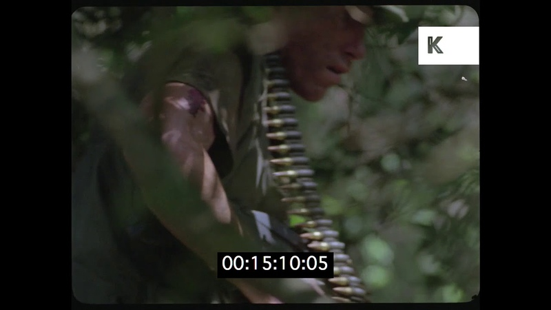 US Troops in the Jungle, 70s Vietnam War, Period Recreation, HD