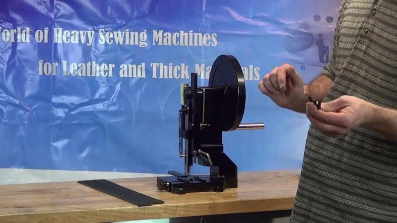 Лысый из Бразерс (шутка) рассказывает о машинке для пробивания отверстий для ремня.
