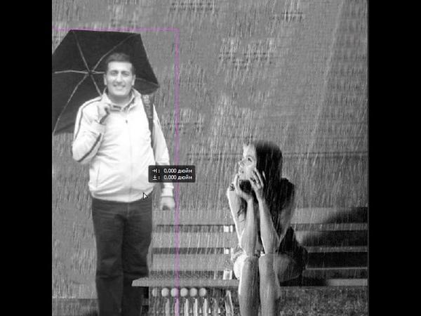 Мужчина с зонтом :D