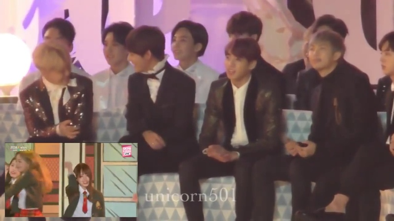 Mp3cs Com BTS reaction to I O I @ Melon Music Awards 2016