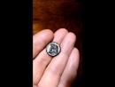 Античная монета Пантикапея .Бородатый сатир -бык.в идеальном сохране