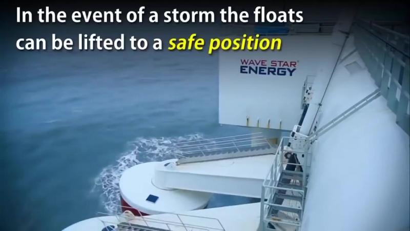 Плавуча електростанція, яка перетворює кінетичну енергію хвиль на електрику