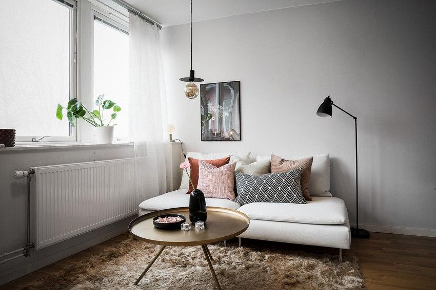 Интерьер шведской квартиры-студии 30 м.