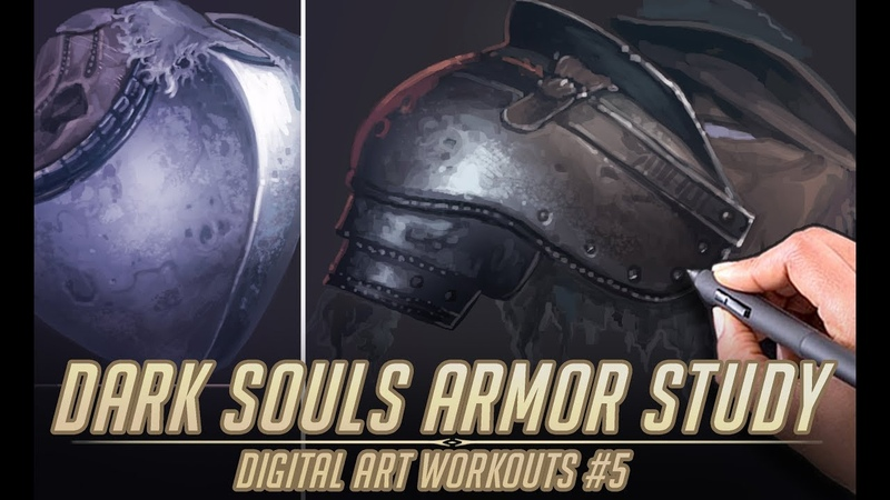 Dark Souls Armor Material study - Digital Art Workouts 5