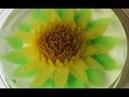 Hướng dẫn làm rau câu 3d đơn giản hoa mặt trời