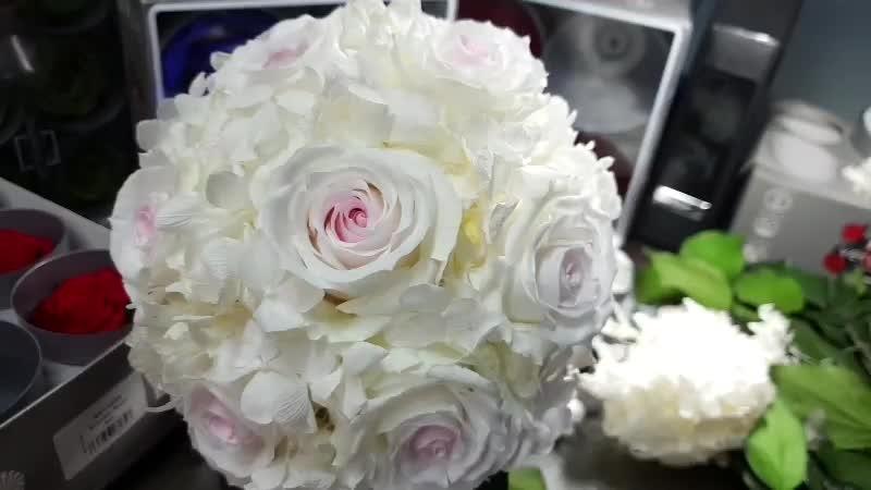 Свадебный букет из неувядающих цветов под заказ в Усинске