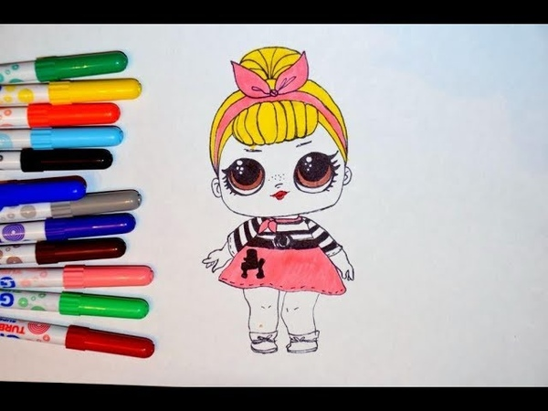 Рисуем куклу ЛОЛ.Draw LOL Surprise Baby Doll. How to Draw LOL
