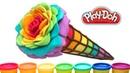 Пластилин Плей До Мороженое Роза цветов радуги Что подарить маме 8 марта DIY Подарки своими руками