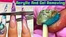 Removing Gel Polish From Nails 👍 Finger Nail Cleaning Tutorial ☑️