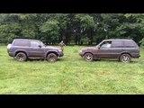 range rover vs nissan patrol vs jeep wrangler  в горку.
