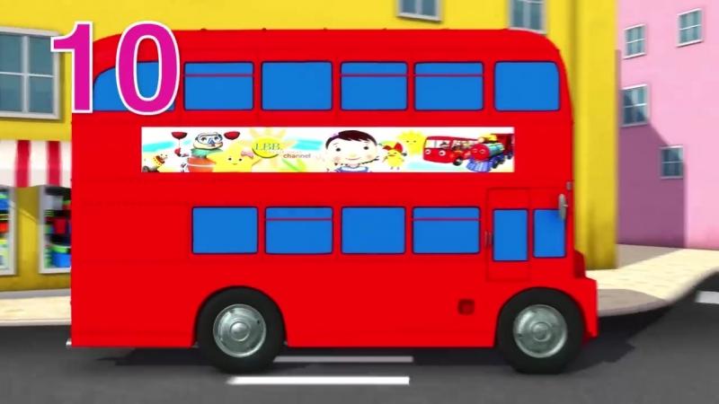 Ten Little Buses Part 3 Nursery Rhymes By LittleBabyBum!