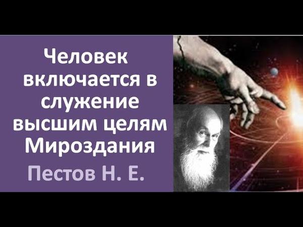 ВЫСШАЯ ЦЕЛЬ И ВЫСШИЙ ДАР ЧЕЛОВЕКУ. ПЕСТОВ Н. Е.