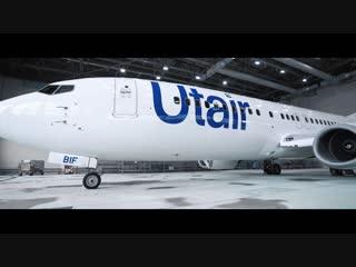 Покраска самолета Utair