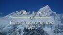 Detailed itinerary of Everest base camp trek Nepal