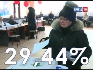 К полудню в Ельце на выборах Президента проголосовал почти каждый третий избиратель