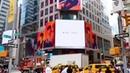 Банер с NU'EST W на Таймс Сквер