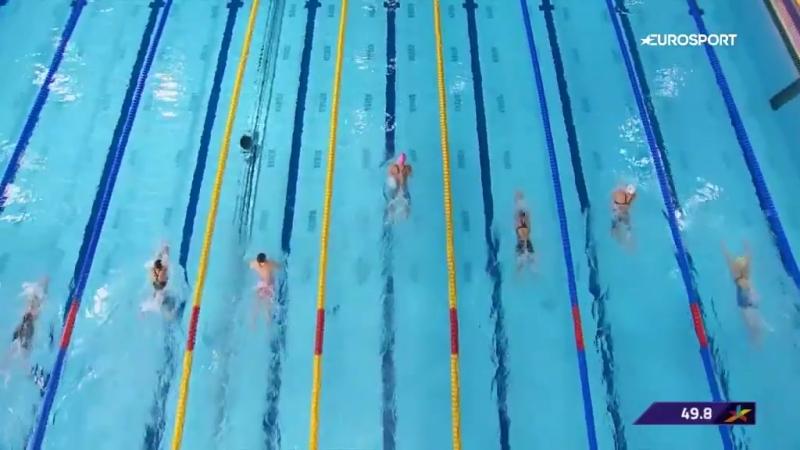 Золотой 100-метровый заплыв Ефимовой на чемпионате Европы. На классе