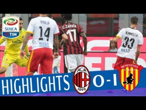 Milan - Benevento 0-1 - Highlights - Giornata 34 - Serie A TIM 2017/18