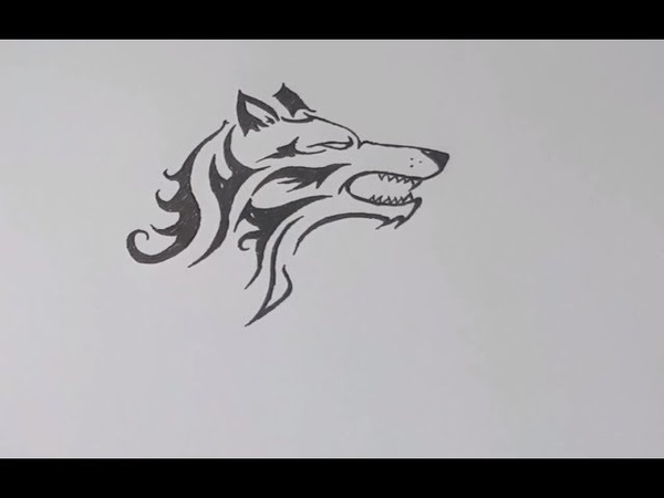 How to draw tattoo wolf