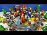 Строим из Lego Duplo, Build and Play toys Lego, - railway, carousel (железная дорога карусель)