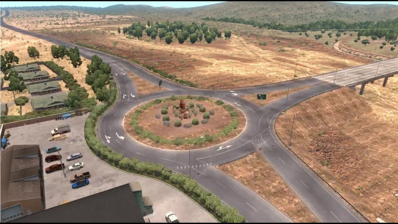 Weve revisited this US60 and US93 intersection in ATS to make it more accurate to the real references - thanks to your feedback!