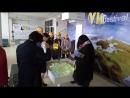 Интерактивная песочница от компании Гефест Проекция на выставке «IT образование шаг в будущее» в Казахстане.