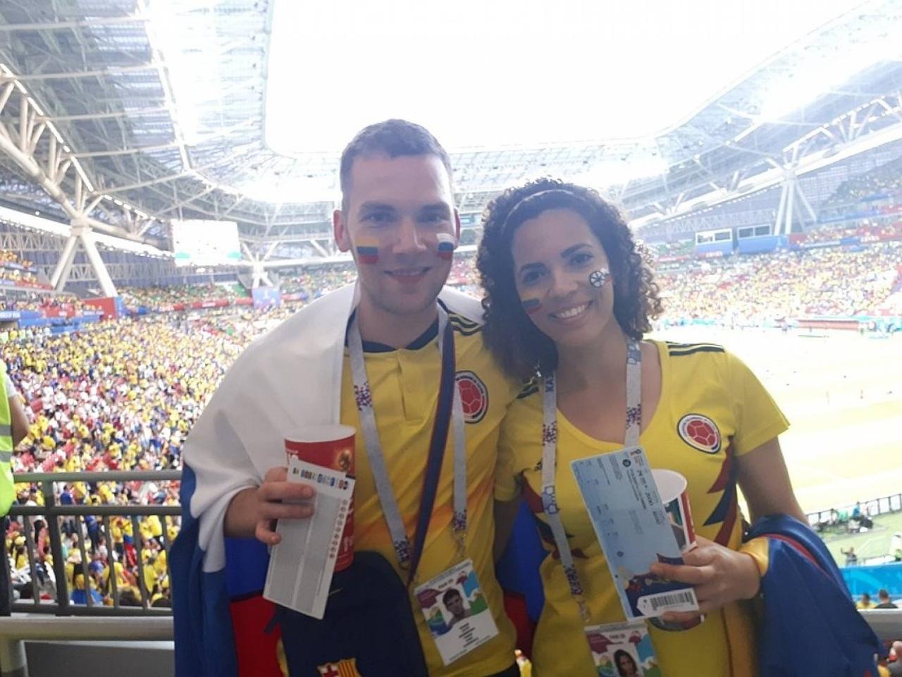 Колумбийка, которой во время футбольного матча сделал предложение педиатр из Томска, планирует жить и работать в Томске