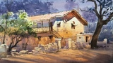 Plein Air Watercolour Landscape Painting Old House EPISODE 29 Ganesh Hire HD