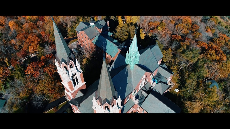 Holy Hill Wisconsin - Cinematic Aerial - 4k - HD