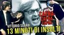 Vittorio Sgarbi show, 13 minuti di insulti dal 1991 al 2018