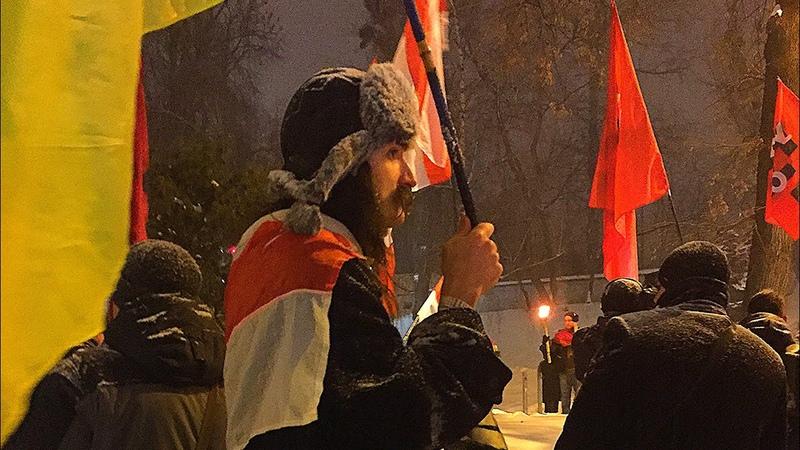 УНА-УНСО факельное шествие Киев Михаил Жизневский Герой небесної сотні