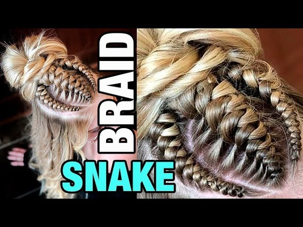ПОВТОРЯЮ ПРИЧЕСКУ ИЗ ИНСТАГРАМ 1. Snake Braid . DOUBLE KNOTTED. Repeat hairstyle from Instagram
