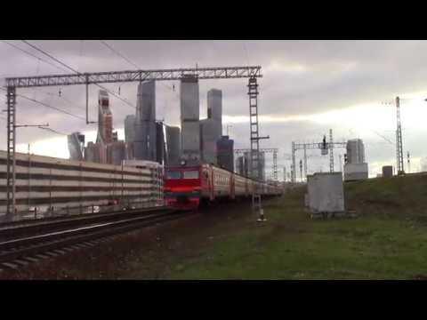 Электропоезд ЭР2Р-7049 перегон Москва-Пассажирская-Смоленская-Фили